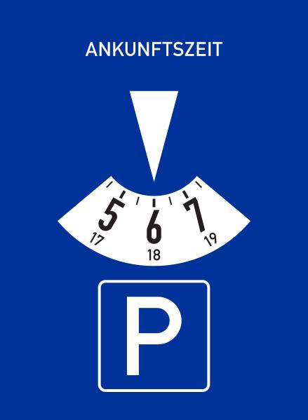 Mini-Parkscheibe