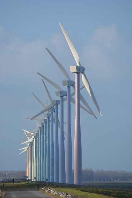 Der Bau von Windenergieanlagen