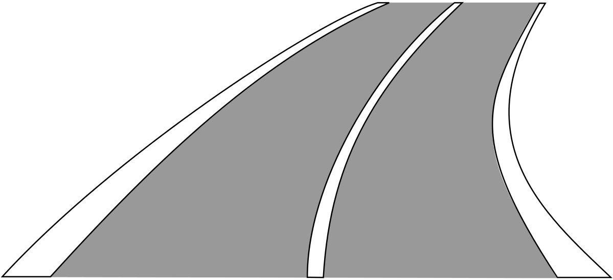 Die durchgezogene Linie – und das vom Straßenrand anfahrende Fahrzeug