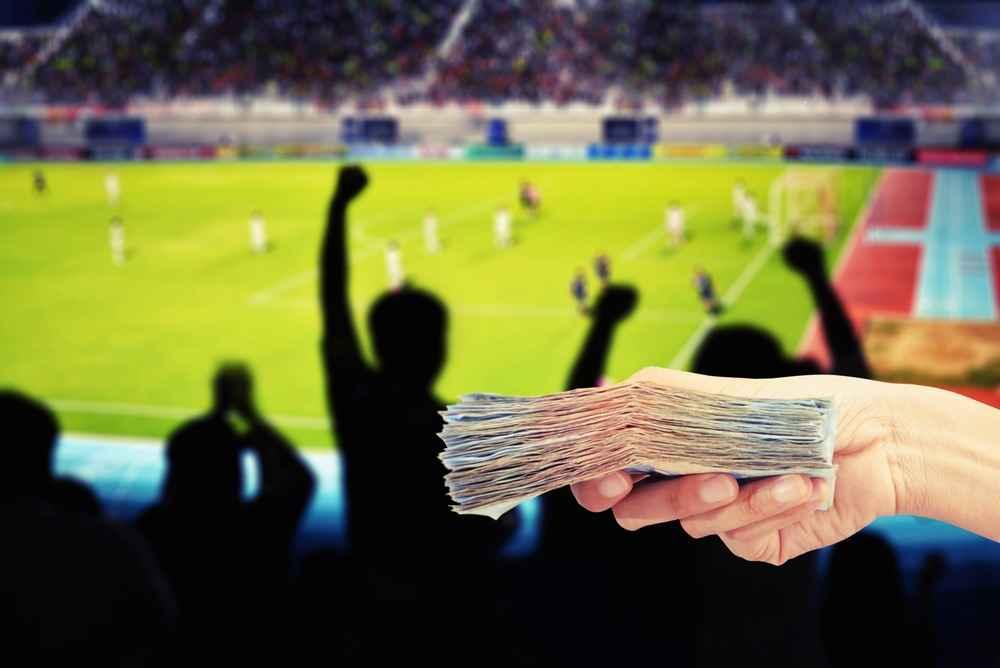 Wette auf den Fußball