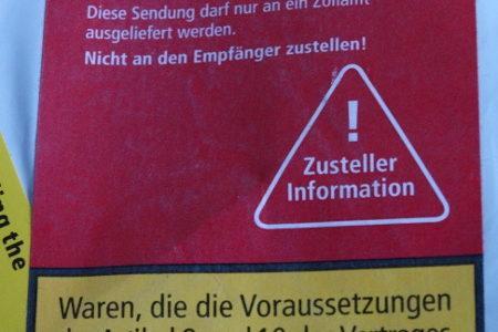 Lagergebühren für beim Zoll nicht abgeholte Postsendungen