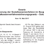 Beitragspflichten zu dem Sozialkassensystem der Bauwirtschaft - und die Verfassungsmäßigkeit des SokaSiG