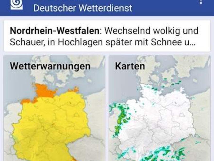 Deutscher Wetterdienst - oder: die Warnwetter-App darf nicht kostenlos sein!