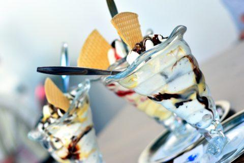 Ein Eiscafé in Corona-Zeiten