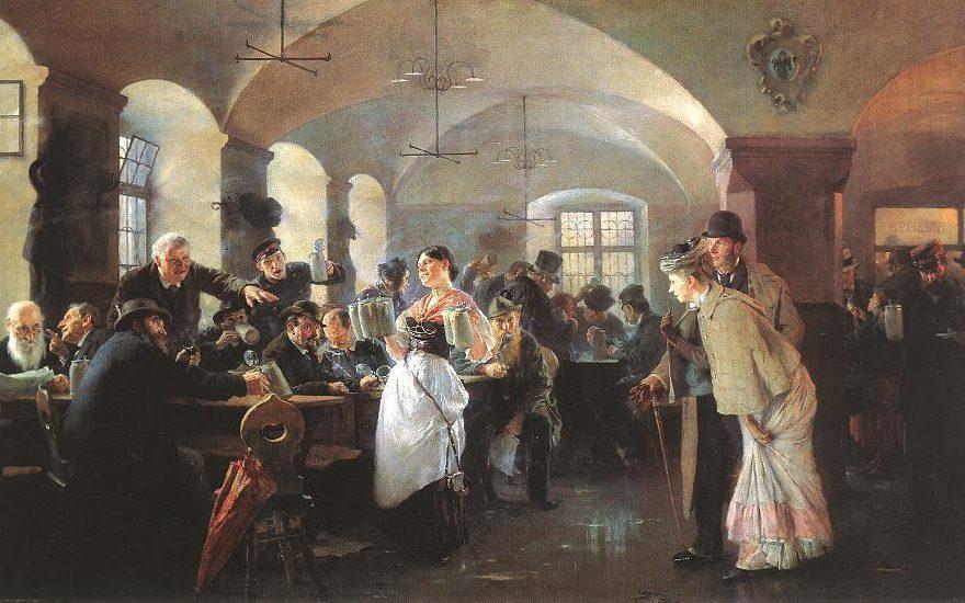 Philip Alexius de Laszlo - Im Münchner Hofbräuhaus, 1892