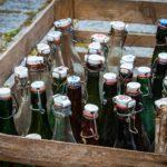 Sturz mit Getränkekiste