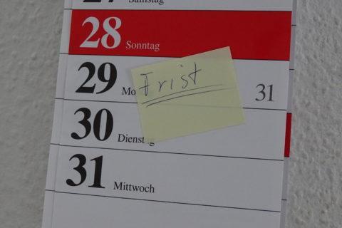 Kalender Frist