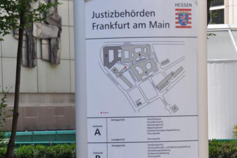 Wegweiser Justizbehörden Frankfurt am Main